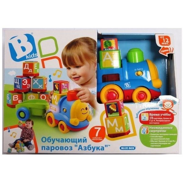BKids Rotaļlieta Pop'n Learn Train, krievu val., 004357
