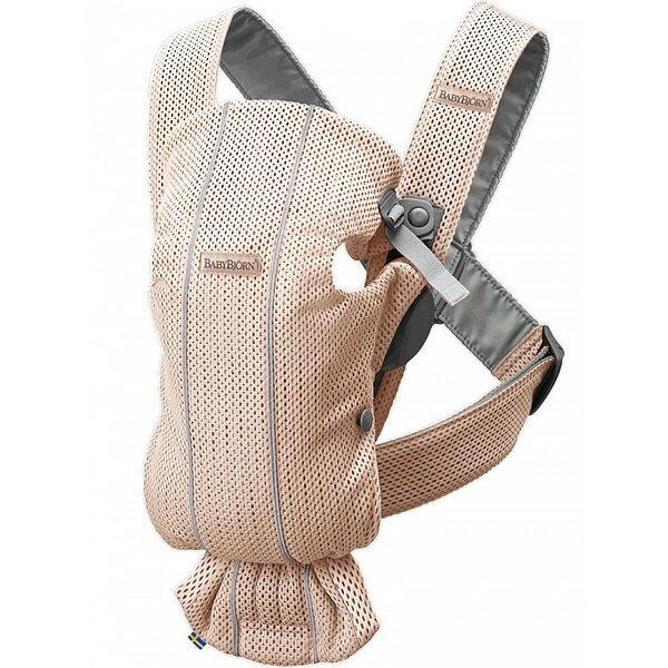 BabyBjorn Ķengursoma Baby Carrier Mini Pearly Pink, Mesh 021001