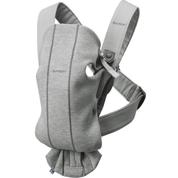 BabyBjorn Ķengursoma Baby Carrier Mini Light Grey, 3D Jersey 021072