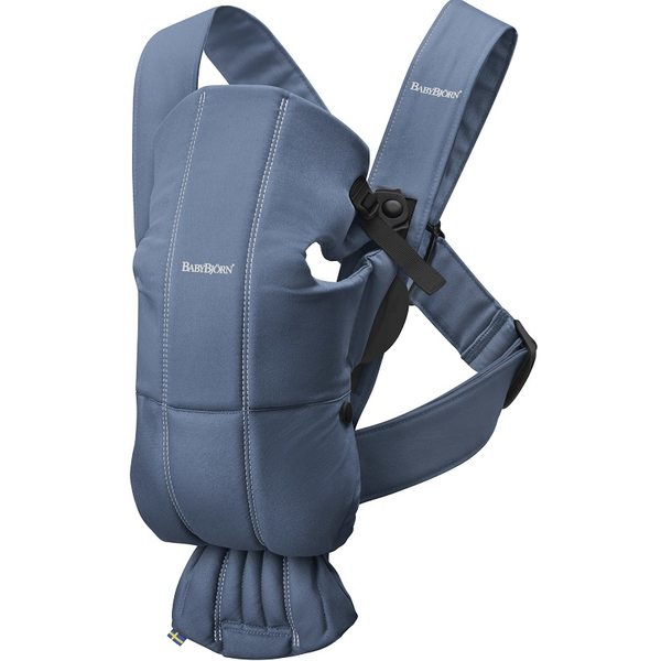 BabyBjorn Ķengursoma Baby Carrier Mini Vintage Indigo, Cotton 021074