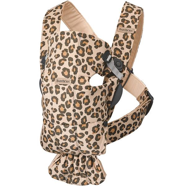 BabyBjorn Ķengursoma Baby Carrier Mini Beige Leopard, cotton 021075