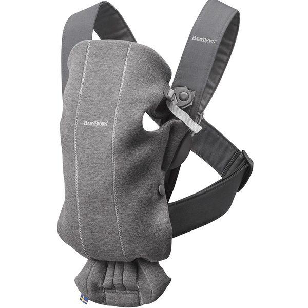 BabyBjorn Ķengursoma Baby Carrier Mini Dark Grey, 3D Jersey 021084