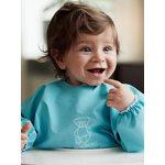BabyBjorn Krekliņš ēšanai un spēlēšanai Long Sleeve Bib Turquoise 044381