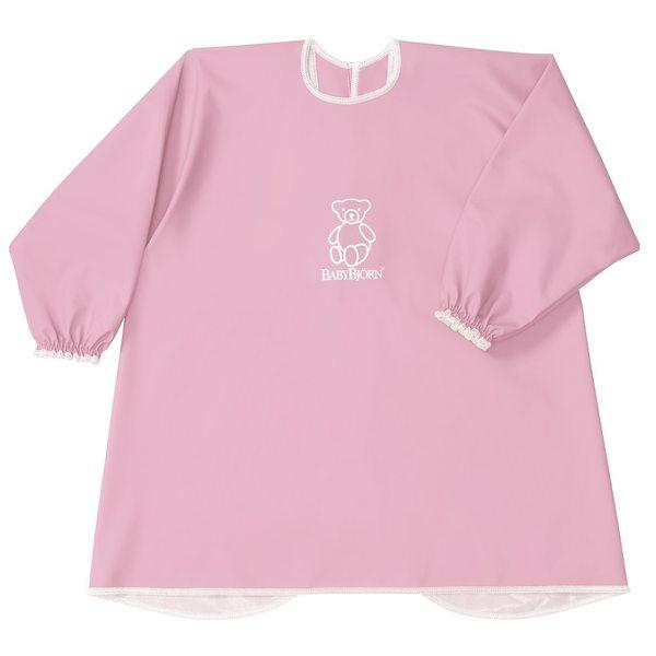 BabyBjorn Krekliņš ēšanai un spēlēšanai Long Sleeve Bib Pink 044384