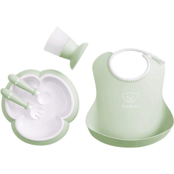 BabyBjorn Baby feeding set Powder green Komplekts barošanai 070061