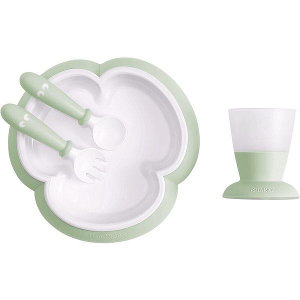 BabyBjorn Baby feeding set Powder Green Komplekts barošanai 078161