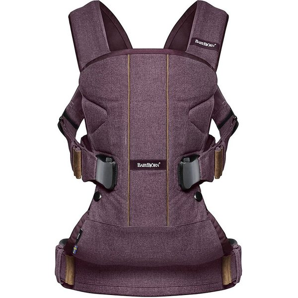 BabyBjorn Ķengursoma Baby Carrier One Blackberry Red Cotton 093077