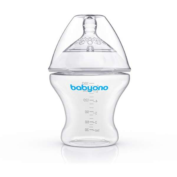 BabyOno Barošanas pudelīte pretkoliku 180 ml Natural Nursing, 1450