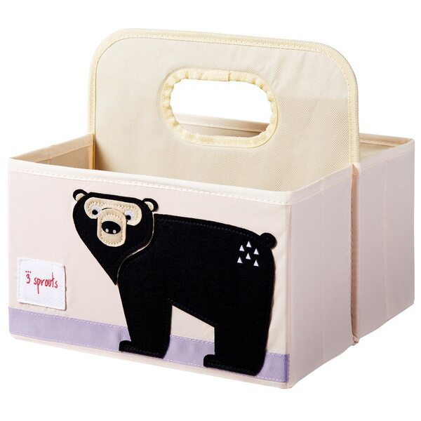 3 Sprouts Diaper Caddy Autiņbiksīšu organizators Bear