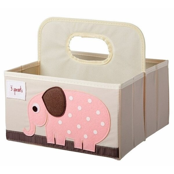 3 Sprouts Diaper Caddy Autiņbiksīšu organizators Elephant