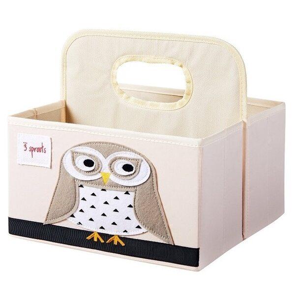 3 Sprouts Diaper Caddy Autiņbiksīšu organizators Owl