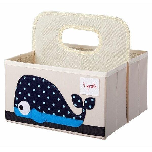 3 Sprouts Diaper Caddy Autiņbiksīšu organizators Whale