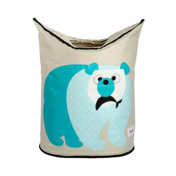 3 Sprouts Laundry Hamper Veļas grozs Polar Bear
