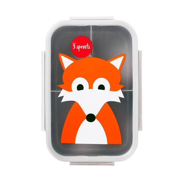 3 Sprouts Lunch Box Pusdienu kastīte Fox