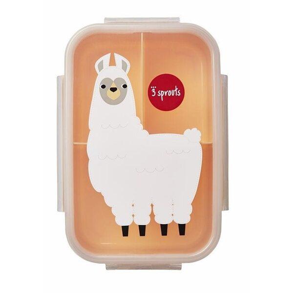 3 Sprouts Lunch Box Pusdienu kastīte Llama