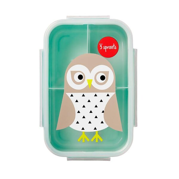 3 Sprouts Lunch Box Pusdienu kastīte Owl