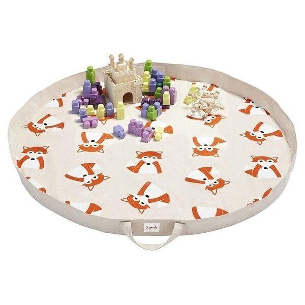 3 Sprouts Play Mat Bag Bērnu spēļu paklājs - soma Fox
