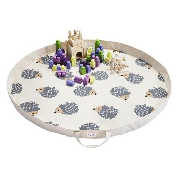 3 Sprouts Play Mat Bag Bērnu spēļu paklājs - soma Hedgehog