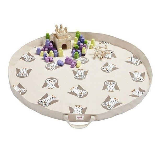 3 Sprouts Play Mat Bag Bērnu spēļu paklājs - soma Owl