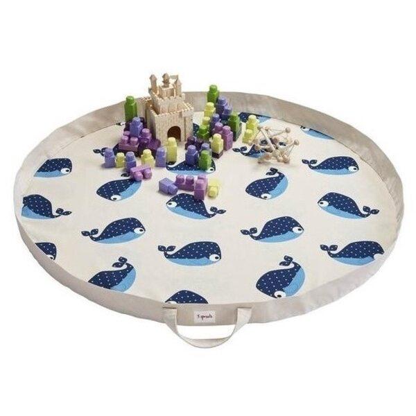 3 Sprouts Play Mat Bag Bērnu spēļu paklājs - soma Whale