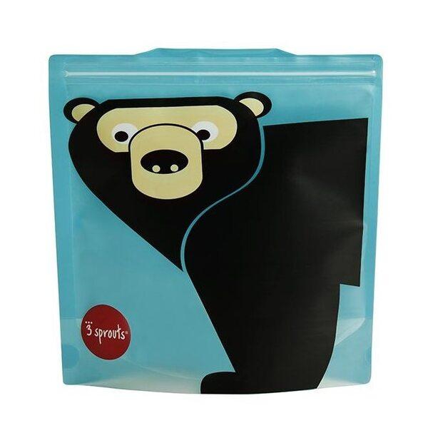 3 Sprouts Sandwich Bag Atkārtoti lietojami pārtikas maisiņi 2 gab. Bear