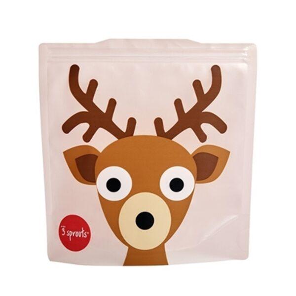 3 Sprouts Sandwich Bag Atkārtoti lietojami pārtikas maisiņi 2 gab. Deer