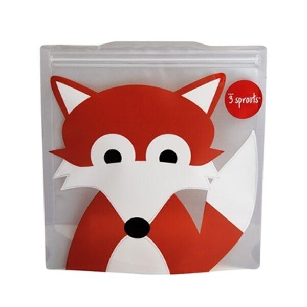 3 Sprouts Sandwich Bag Atkārtoti lietojami pārtikas maisiņi 2 gab. Fox