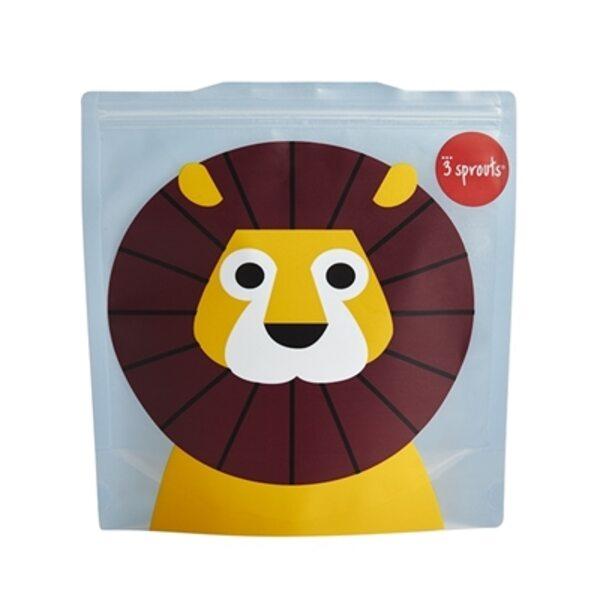3 Sprouts Sandwich Bag Atkārtoti lietojami pārtikas maisiņi 2 gab. Lion