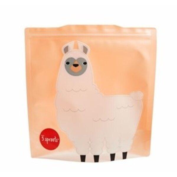 3 Sprouts Sandwich Bag Atkārtoti lietojami pārtikas maisiņi 2 gab. Llama