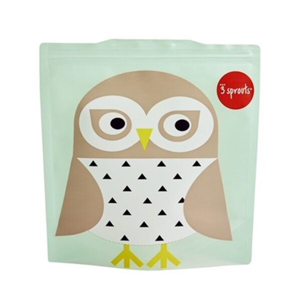 3 Sprouts Sandwich Bag Atkārtoti lietojami pārtikas maisiņi 2 gab. Owl