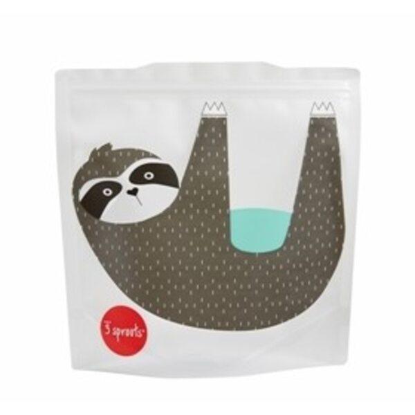 3 Sprouts Sandwich Bag Atkārtoti lietojami pārtikas maisiņi 2 gab. Sloth