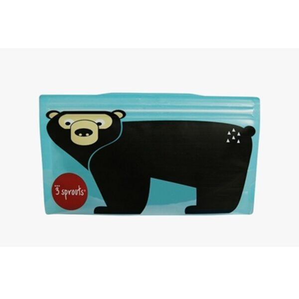 3 Sprouts Snack Bag Atkārtoti lietojami uzkodu maisiņi 2 gab. Bear