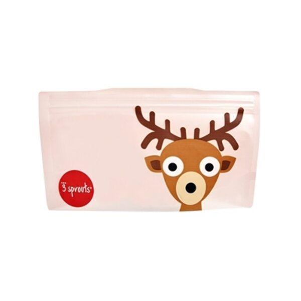3 Sprouts Snack Bag Atkārtoti lietojami uzkodu maisiņi 2 gab. Deer