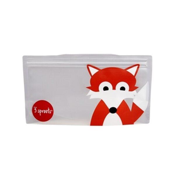 3 Sprouts Snack Bag Atkārtoti lietojami uzkodu maisiņi 2 gab. Fox