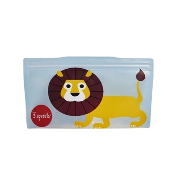 3 Sprouts Snack Bag Atkārtoti lietojami uzkodu maisiņi 2 gab. Lion