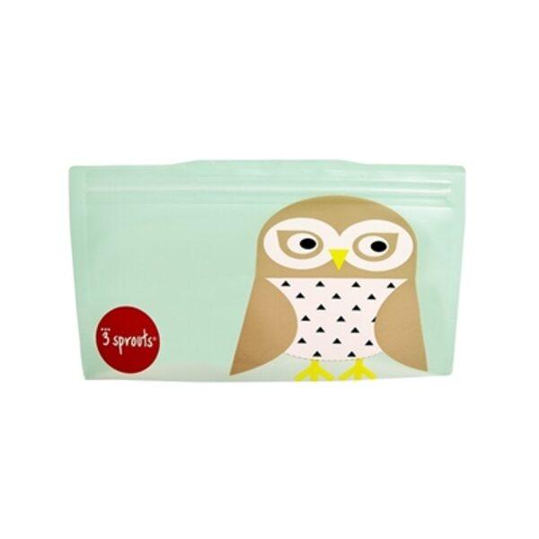 3 Sprouts Snack Bag Atkārtoti lietojami uzkodu maisiņi 2 gab. Owl
