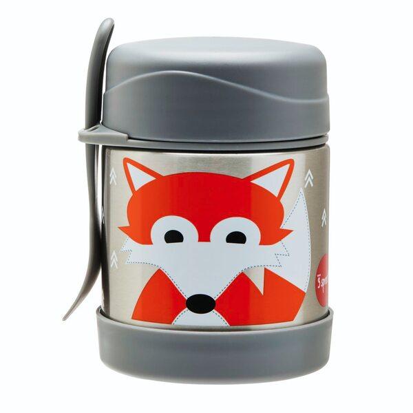 3 Sprouts Stainless Steel Food Jar Termo konteineris Fox