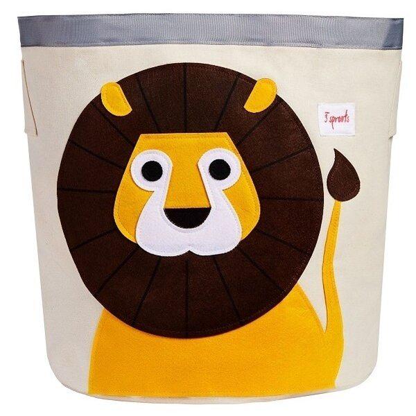 3 Sprouts Storage Bin Grozs rotaļlietām Lion