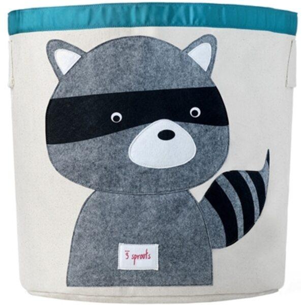 3 Sprouts Storage Bin Grozs rotaļlietām Raccoon