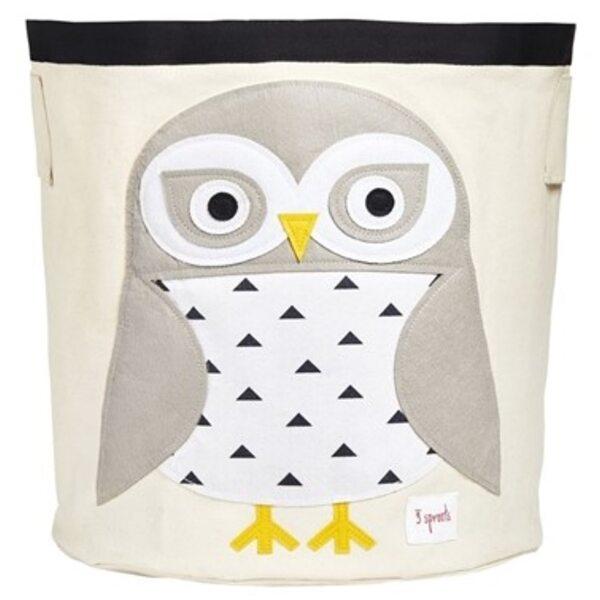 3 Sprouts Storage Bin Grozs rotaļlietām Snowy Owl