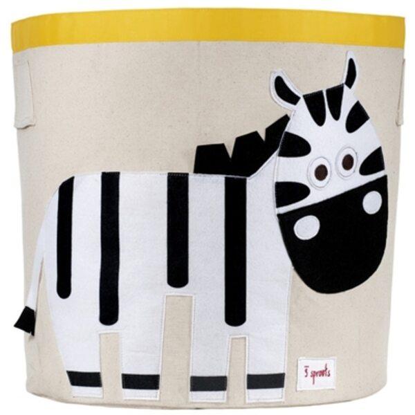 3 Sprouts Storage Bin Grozs rotaļlietām Zebra