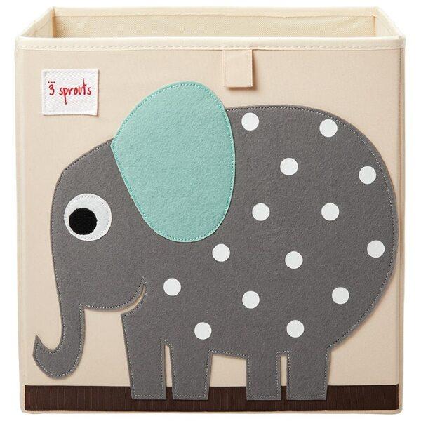 3 Sprouts Storage Box Mantu kaste Elephant
