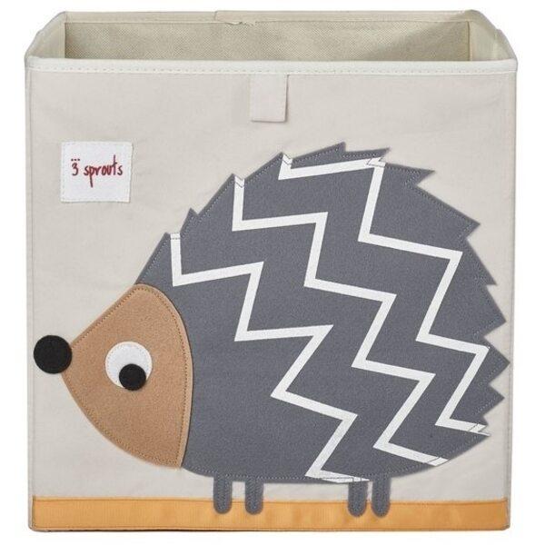 3 Sprouts Storage Box Mantu kaste Hedgehog