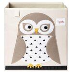 3 Sprouts Storage Box Mantu kaste Owl
