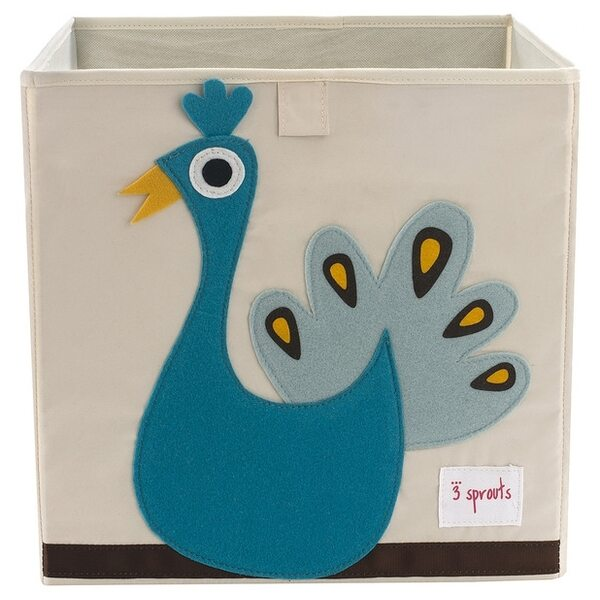3 Sprouts Storage Box Mantu kaste Peacock