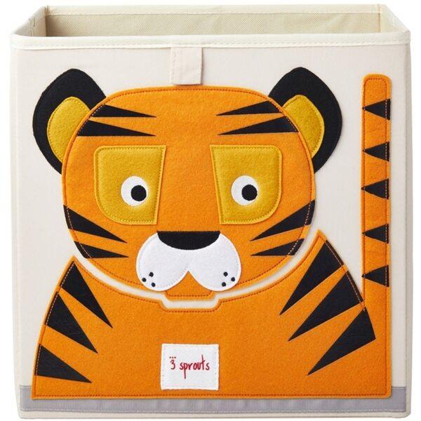 3 Sprouts Storage Box Mantu kaste Tiger