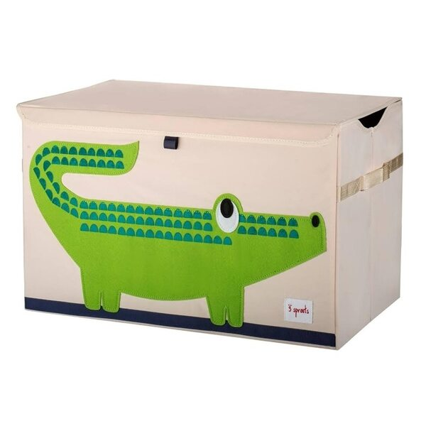 3 Sprouts Toy Chest Rotaļlietu kaste Crocodile