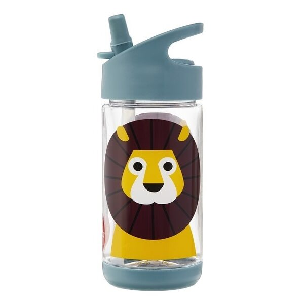 3 Sprouts Water Bottle Pudelīte Lion Blue 350 ml