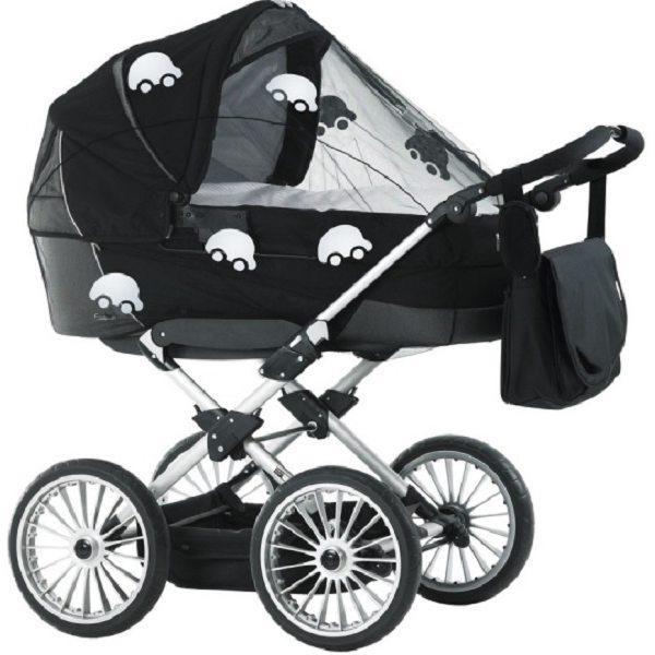 BabyDan Universāls moskītu tīkls ratiem, melns ar atstarojošiem auto, 3300-11-92
