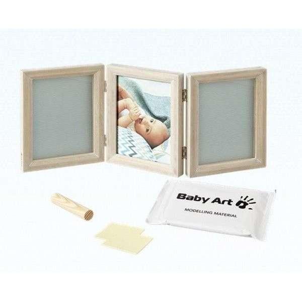 Baby Art Double Print Frame My baby Touch komplekts mazuļa pēdiņu/rociņu nospieduma izveidošanai, Stormy, 34120173